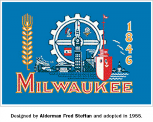 Milwaukee, Wisconsin's flag, the result of many different concepts combined.